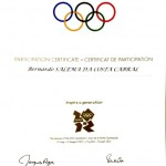 Participation Certificate 2012 Olympic Game
